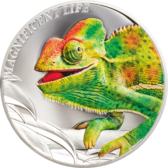5$ 2020 Cook Islands - Magnificent Life - Chameleon