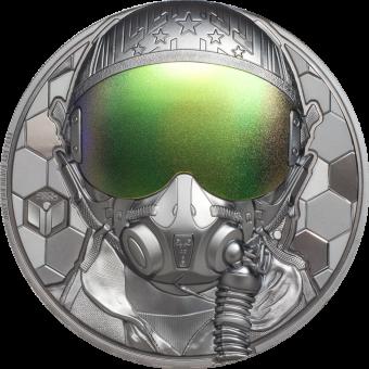 5$ 2020 Cook Islands - Real Heros - Fighter Pilot