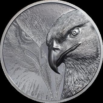 1000 Togrog 2020 Mongolia - Majestic Eagle – Adler 2 oz Black Proof