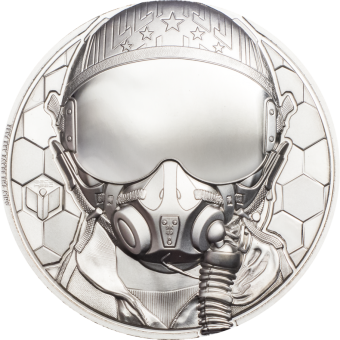 250$ 2020 Cook Islands - Real Heros - Platinum Fighter Pilot