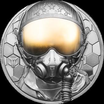 500$ 2020 Cook Islands - Real Heros - Fighter Pilot 5oz Au
