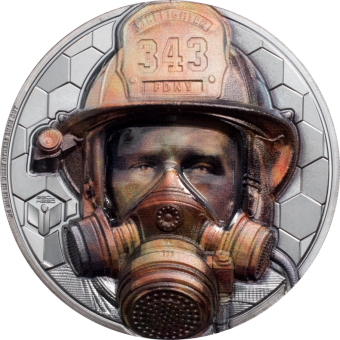 5$ 2021 Cook Islands - Real Heros - Firefighter