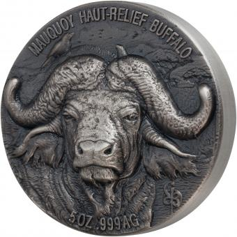 5000 Francs Ivory Cost 2020 - Mauquoy Haut Relief - Big Five Water Buffalo