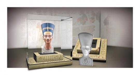 25$ 2013 Solomon Islands - Sculptures of Art - 3D Nefertiti