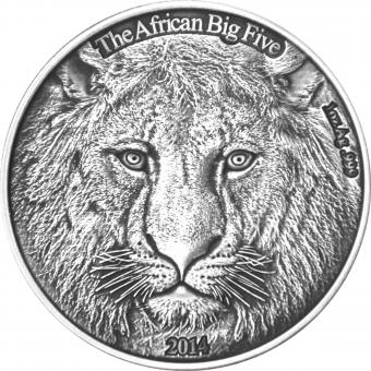 1000 Francs Burkina Faso - The Lion - The African Big Five