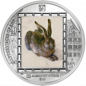 10 $ 2011 Britische Jungferninseln - Albrecht Dürer - Feldhase