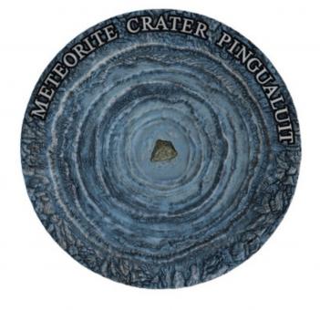 2$ 2018 Niue Island - Meteorite Crater - Pingualuit