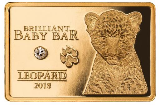 5$ 2018 Niue Island - Brilliant Baby Bar - Leopard