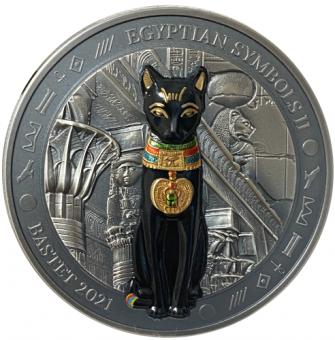 20$ 2021 Palau - Ägyptische Symbole II - Bastet 3 oz