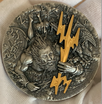 2$ 2021 Niue Island - Götter Serie - Zeus