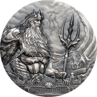 20$ 2019 Cook Islands - Gods of the World - Poseidon Sea God