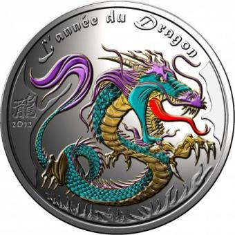 1000 Francs 2012 Benin - Year of the Dragon