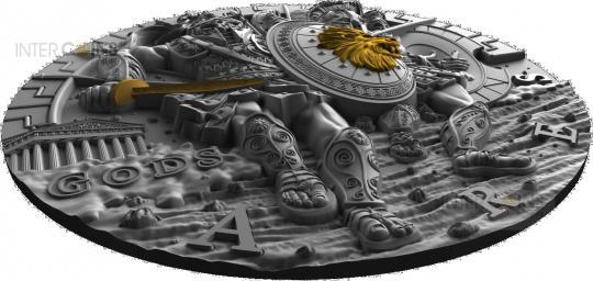 2$ 2017 Niue Island - Götter Serie - Ares