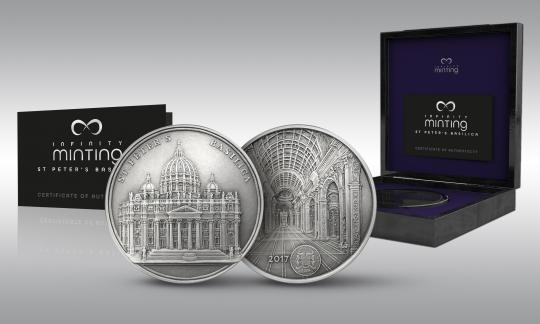 1500 Francs 2017 Benin - Infinity Minting - St. Peters Basilica Mauquoy