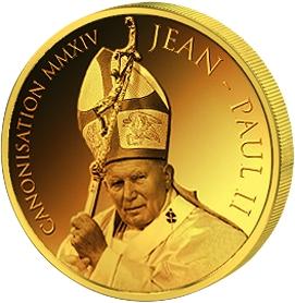 1500 Francs 2014 Benin - Canonization of Jean Paul II