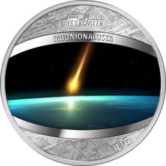 1$ 2016 Niue Island - Pure Meteorit Münze - Muonionalusta Meteorit