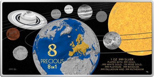 5$ 2016 Solomon Islands - PRECIOUS 8 IN 1 - Sonnensystem