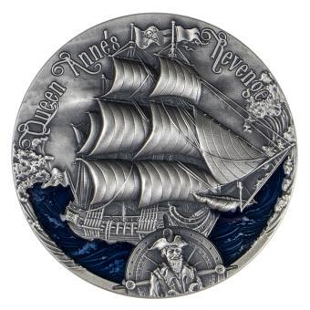 2000 Francs 2019 Cameroon - Golden Age of Sail - QUEEN ANNES REVENGE Blackbeard Ship