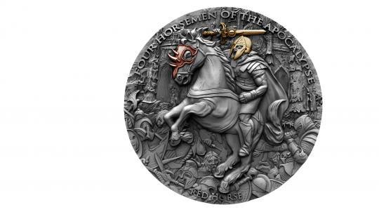 5$ 2019 Niue Island - Four Horsemen Of The Apocalypse - Red Horse