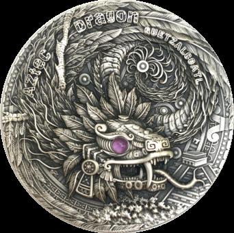 2$ 2020 Niue - Drache - Aztec Dragon