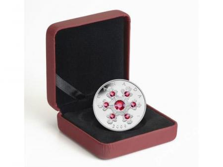 20 $ 2009 Kanada - Snowflake / Schneeflocke pink