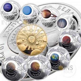 9 x 10 Rubel 2012 Weißrussland - Das Sonnensystem