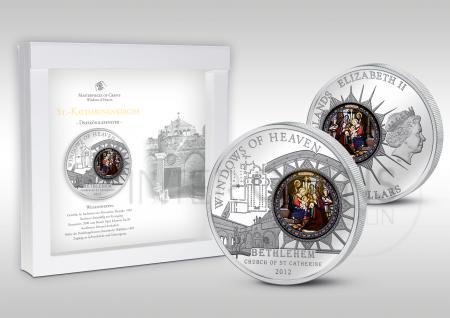 10 $ 2012 Cook Islands - Windows of Heaven - Bethlehem Katharinenkirche