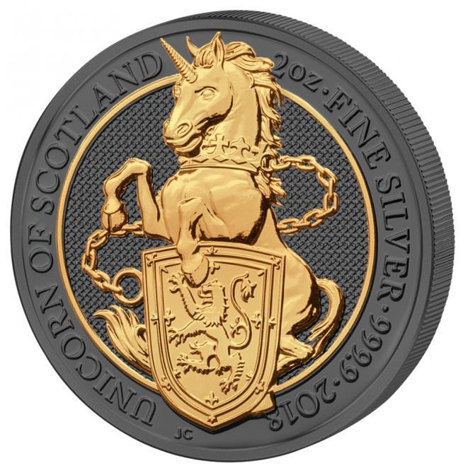 5 Pounds 2018 United Kingdom- Golden Enigma - Queen's Beast - Einhorn
