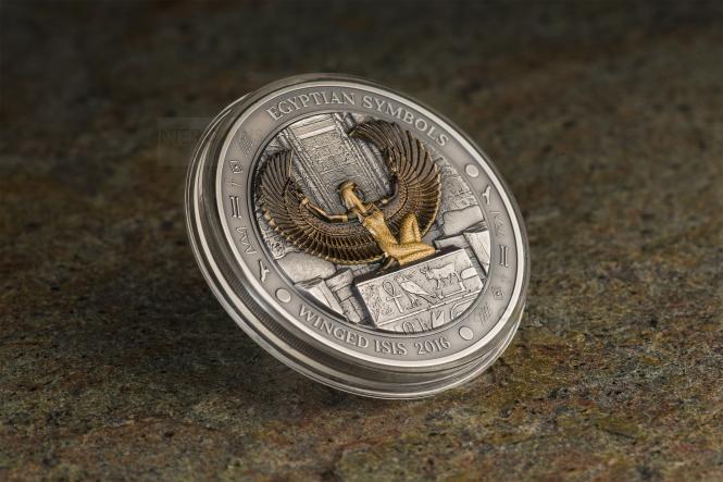 20$ 2016 Palau - Ägyptische Symbole - Geflügelte Isis 3 oz
