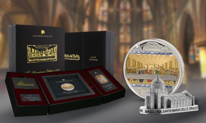 20$ 2018 Cook Islands - MASTERPIECES of Art Premium Edition - Last Supper