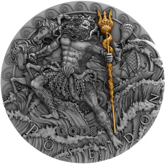 Vorverkauf! 2$ 2018 Niue Island - Götter Serie - Poseidon