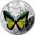 1 $ 2012 Niue Island - Ornithoptera Goliath