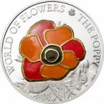 5 $ 2009 Cook Islands Poppy in Cloisonne