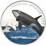 5 $ 2012 Tokelau - Marine Life Orca / Killerwal