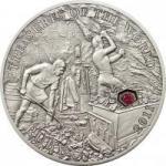 5 $ 2011 Palau - Schätze der Welt - Rubin im Etui