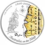 1 $ 2006 Australien - Australia on the map