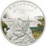 1000 Francs Elfenbeinküste 2011 - Smilodon - Säbelzahntiger
