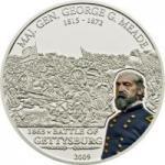 5 $ 2009 Cook Islands G. Meade - Battle of Gettysburg