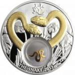 1 $ 2012 Niue Island - Jahr der Schlange - Goldene Schlange