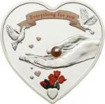 5 $ 2008 Palau Herzmünze mit Perle