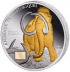 1000 Francs Elfenbeinküste - Mammut vergoldet