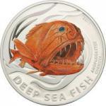 2 $ 2011 Pitcairn Islands - Tiefseefische - Fangzahnfisch