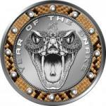 1$ 2013 Niue Island - Schlangenbiss (Cu) im Etui