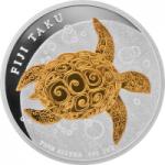 2 $ 2010 Fidschi - Taku Turtle / Karettschildkröte
