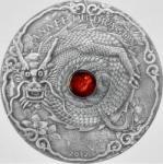 1500 Francs 2012 Togo - Jahr des Drachen mit Bernstein