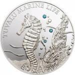 1 $ 2010 Tuvalu - Marine Life - Seepferdchen